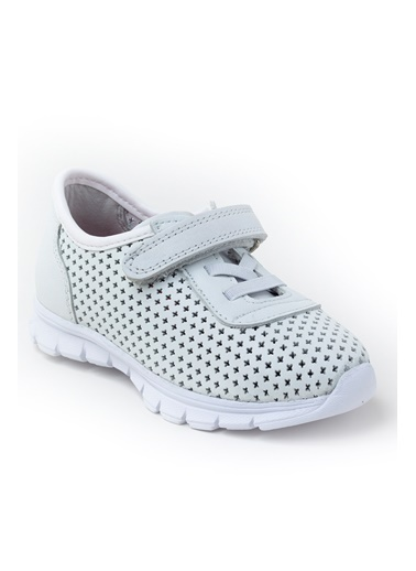 minipicco Minipicco Unısex Beyaz Deri Ortopedik Destekli Spor Ayakkabı Beyaz